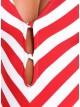 Spaghetti Strap Sleeveless Striped One Piece Swimwear