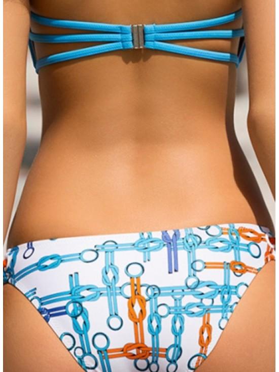 Fashion Brief Slim 2 Piece Bandeau Bikini Set