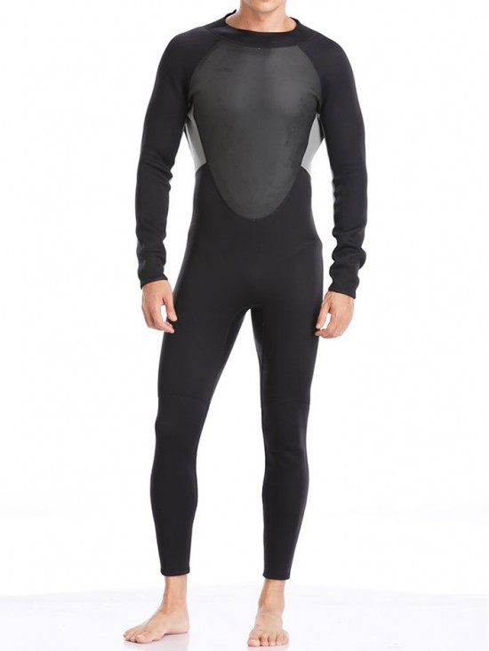 3MM Mens Diving Surfing Suit Long Sleeve Warm Wetsuit