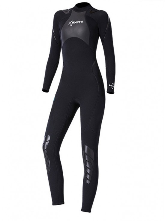 Womens Wetsuits 3MM High Elasticity Long Sleeve Back Zipper Diving Surfing Suit